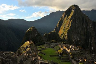 Machu Piccu at sunset